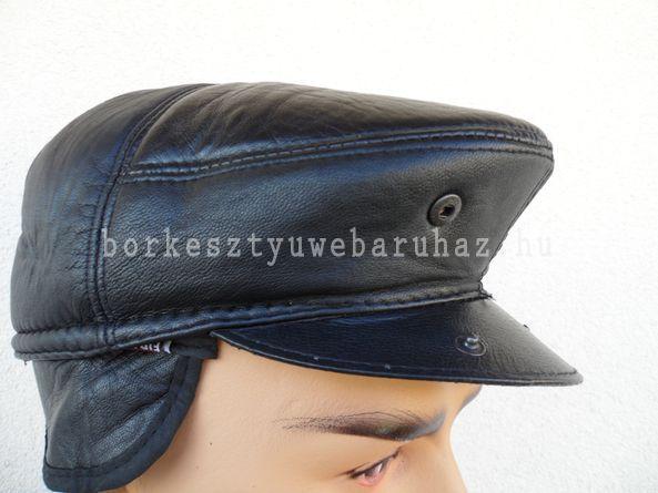 Laci fekete bőrsapka 7aa6d86186